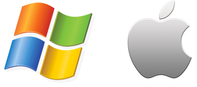 Apple and Windows Icons